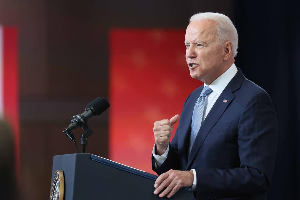 US President Joe Biden in Philadelphia