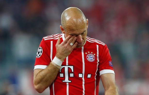Robben, lesionado ante el Real Madrid (Reuters)