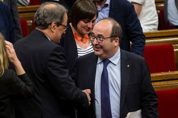 El candidato de JxCat a ser investido presidente de la Generalitat, Quim Torra