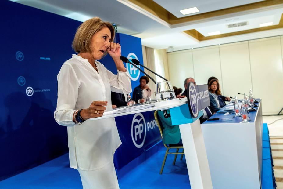La presidenta del PP de Castilla-La Mancha, María Dolores de Cospedal
