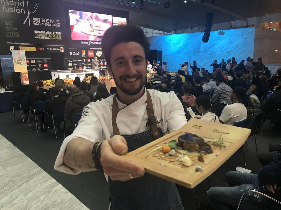 El cocinero burgalés, David Izquierdo, del restaurante El 51 del Sol de Aranda de Duero