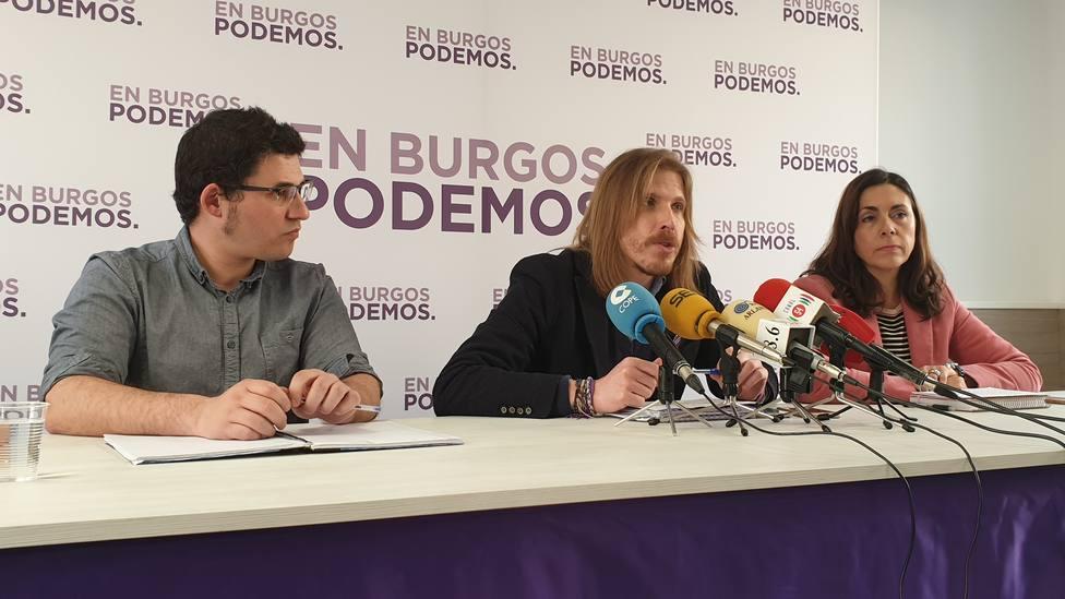 Raúl Salinero, Pablo Fernández y Marga Arroyo, esta mañana