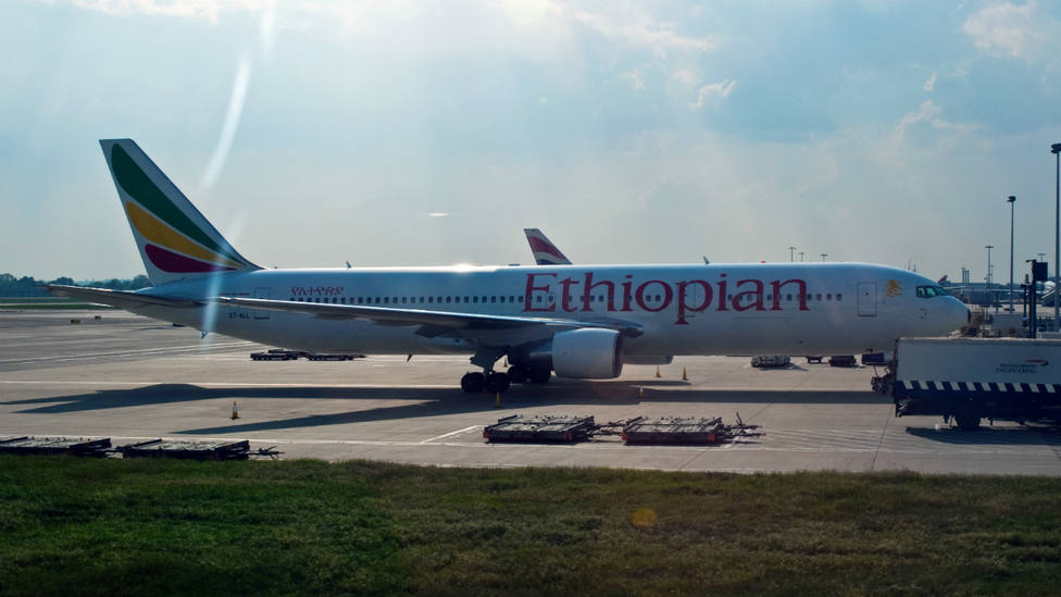 Avión de Ethiopian Airlines