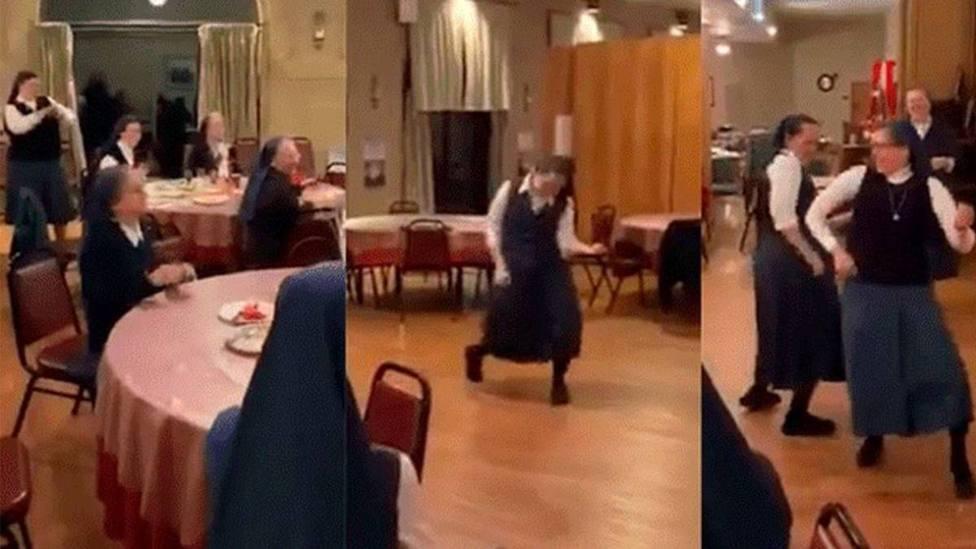 Unas monjas causan furor en las redes cantando y bailando Queen