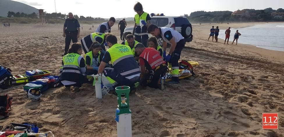 Muere ahogada una mujer holandesa en la playa Joyel de Noja