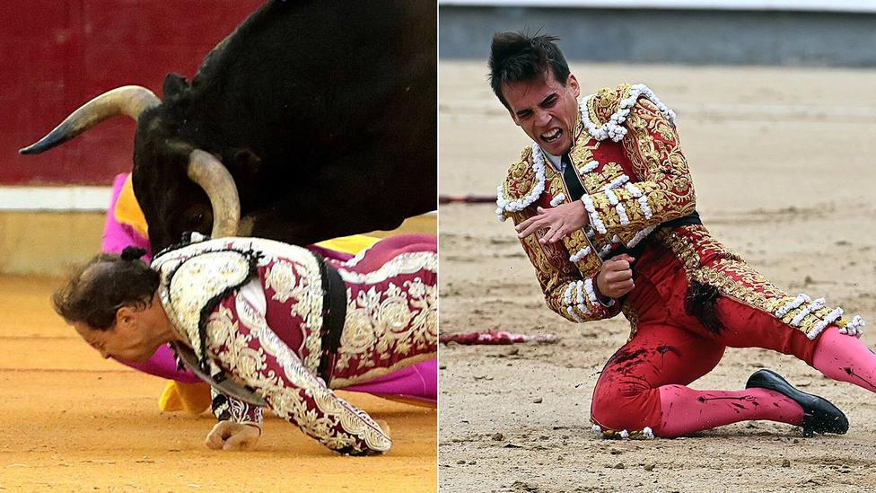 Mariano de la Viña y Gonzalo Caballero mejorar de sus respectivas cornadas
