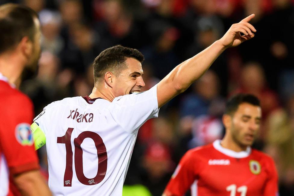 Xhaka celebra el gol de Suiza (EFE)