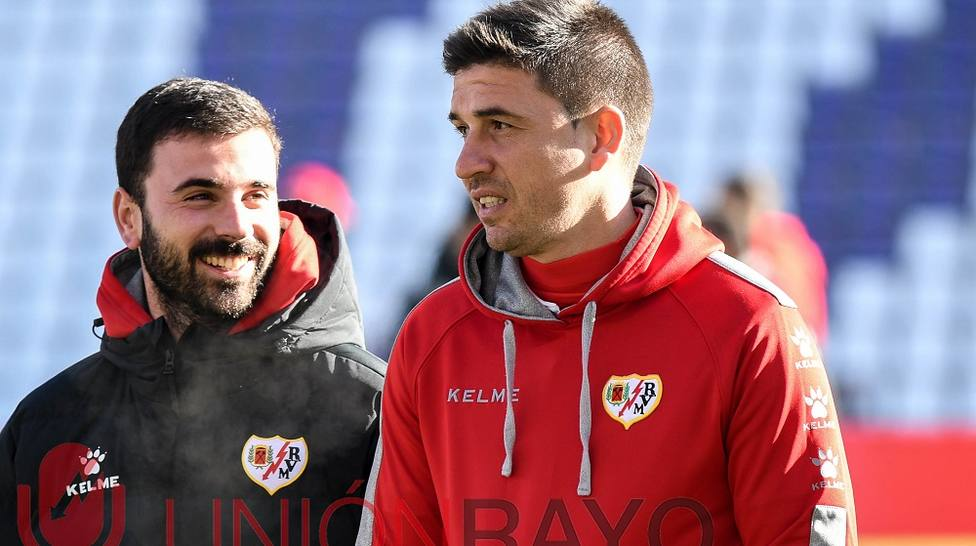 Rubén Reyes, en un entrenamiento con el Rayo Vallecano.