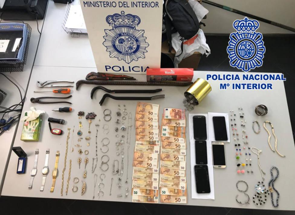 Desarticulada una organización criminal en Cartagena especializada en el robo de domicilios