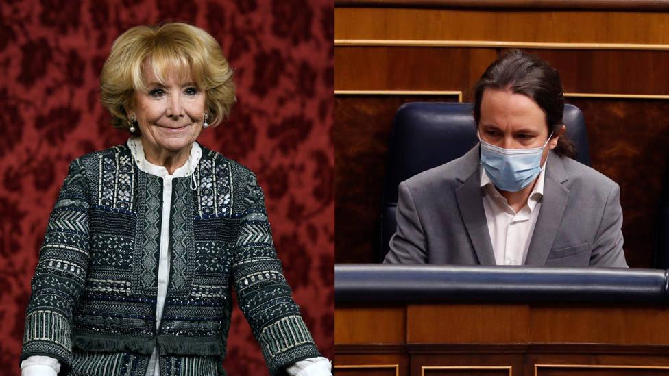 Esperanza Aguirre define a Iglesias tras sus insultos en el Congreso: No es un macho alfa...