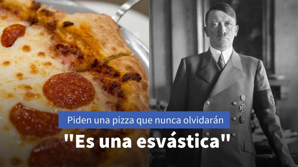 Piden una pizza y la forma del pepperoni les deja de piedra: Es una esvástica