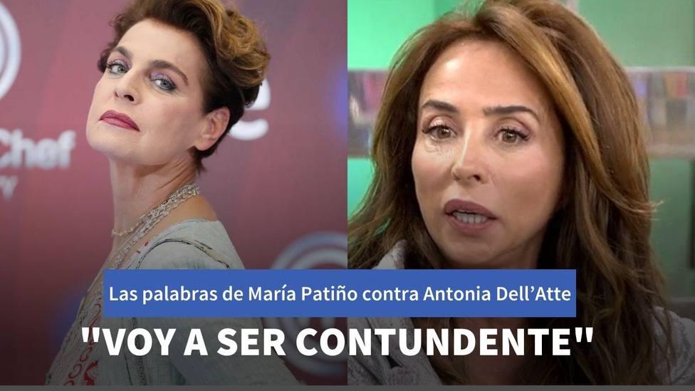 Las palabras de Antonia Dell'Atte que han provocado el enfado de María Patiño en directo