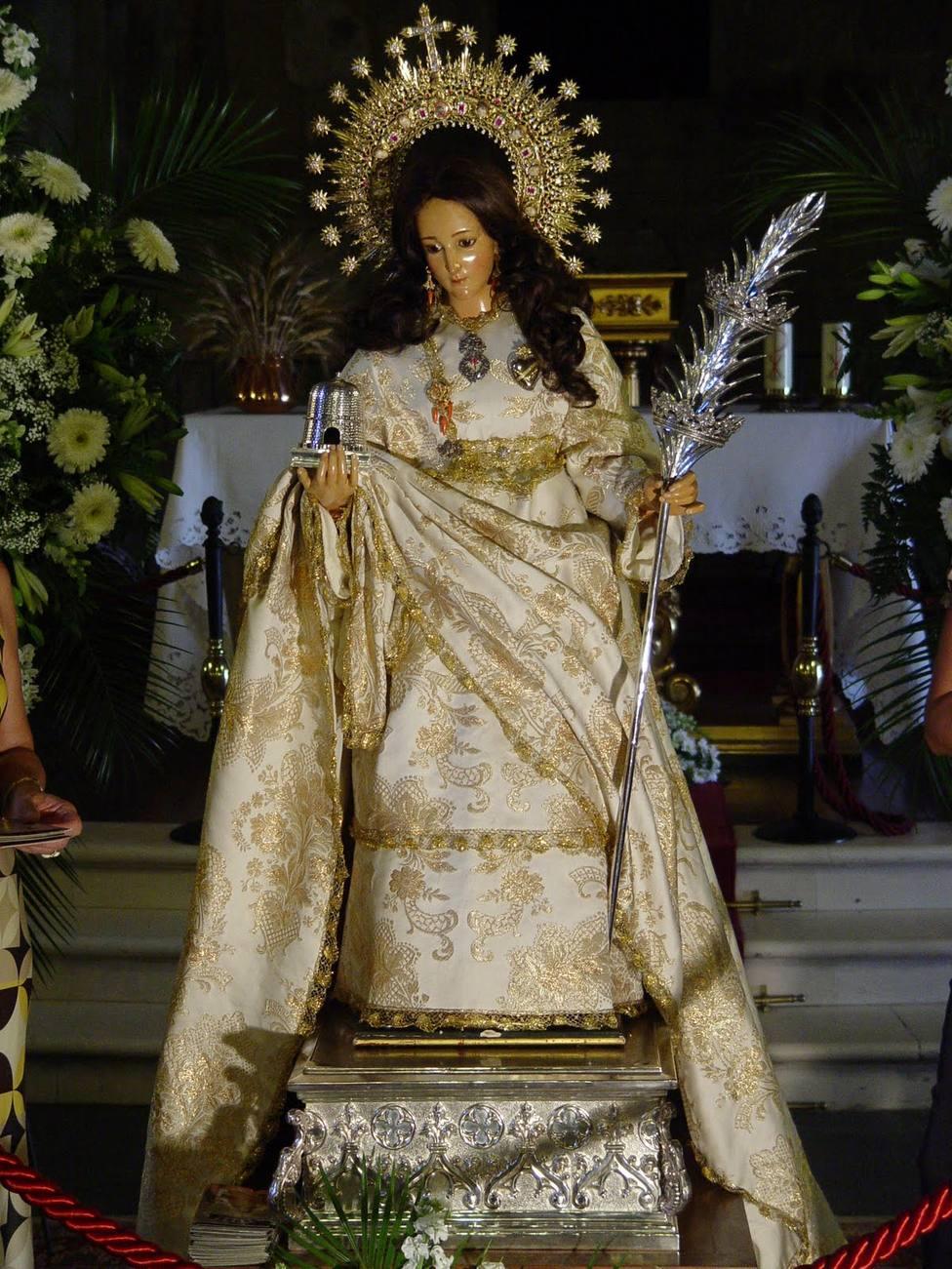 Mártir Santa Eulalia, patrona de Mérida. Foto: Archivo