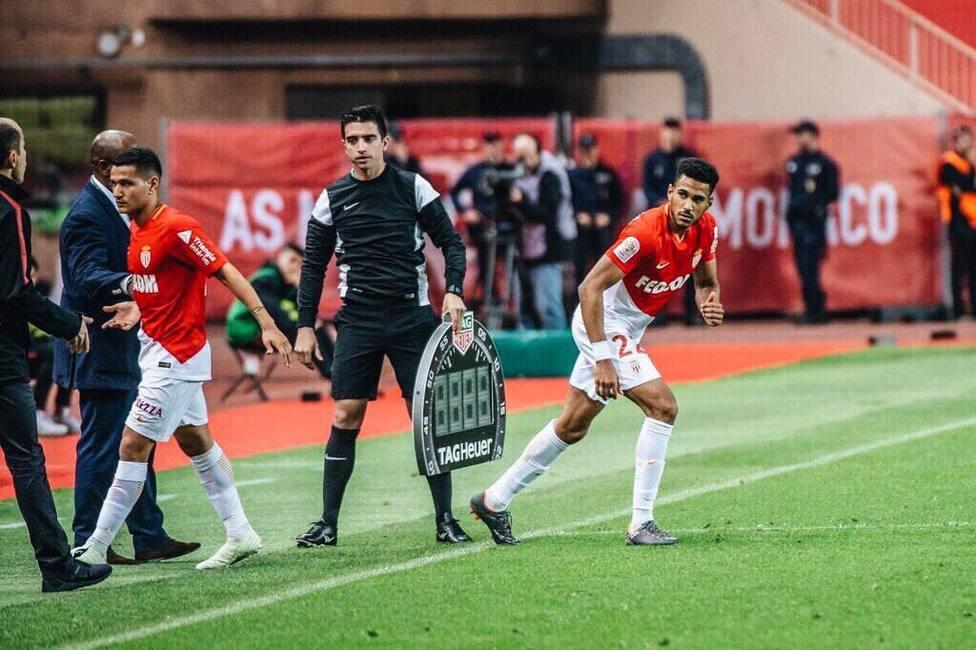 Jordi Mboula, en un partido con el Mónaco