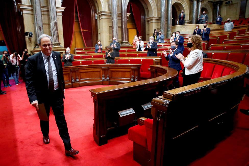 Pleno del Parlament por la inhabilitación de Torra