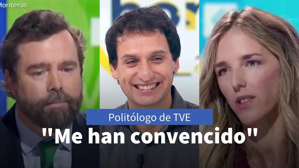 El polítologo de TVE responde al reproche de Cayetana y Espinosa por las críticas: En parte me convencieron