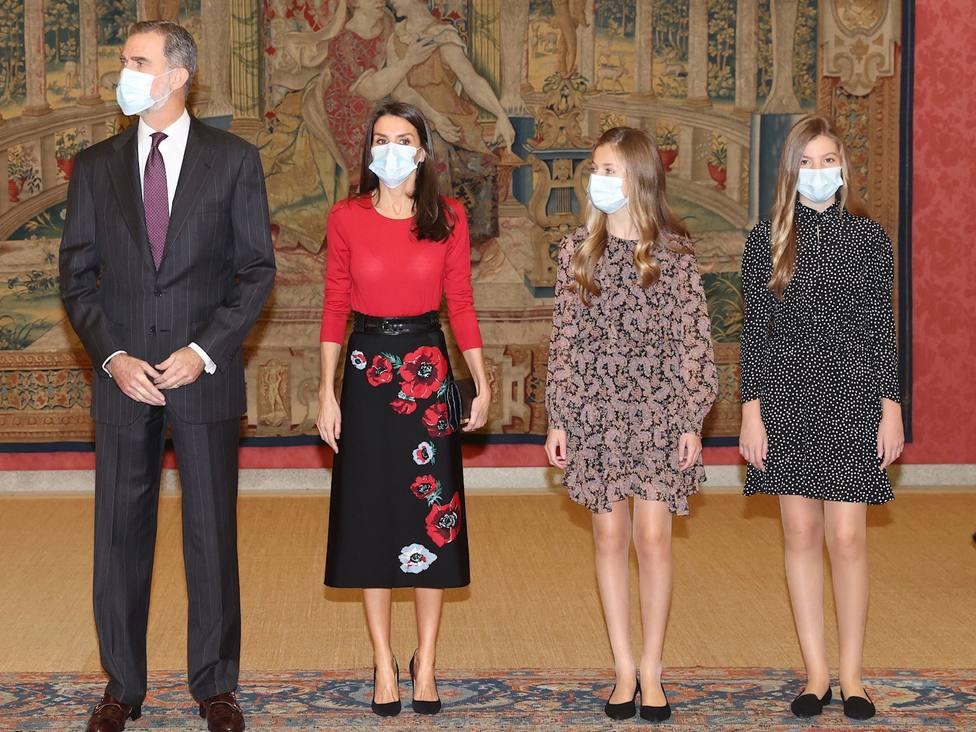 El Rey asiste con Leonor a un acto de la Fundación Princesa de Girona y reafirma su compromiso con los jóvenes