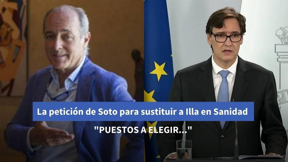 La petición de José Manuel Soto para sustituir a Illa en el Ministerio de Sanidad: Puestos a pedir...