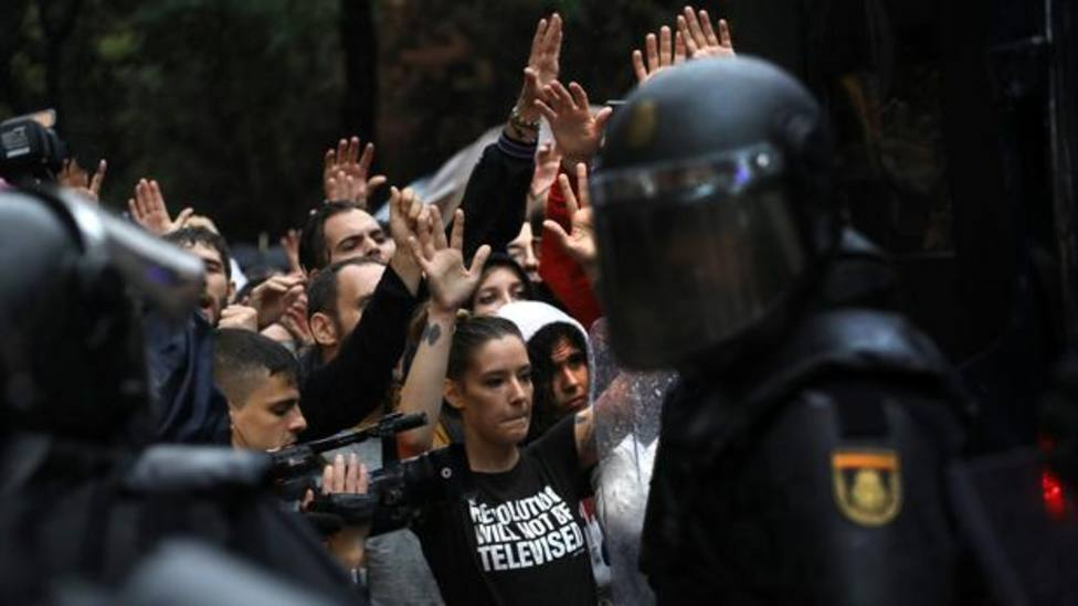 Imagen del 1-O en Barcelona - ABC - Archivo
