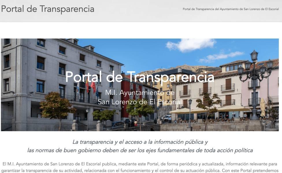 Portal de Transparencia del Ayuntamiento de San Lorenzo de El Escorial