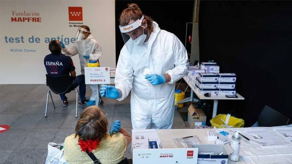 Nuevo punto de test de antígenos en el Palacio de los Deportes