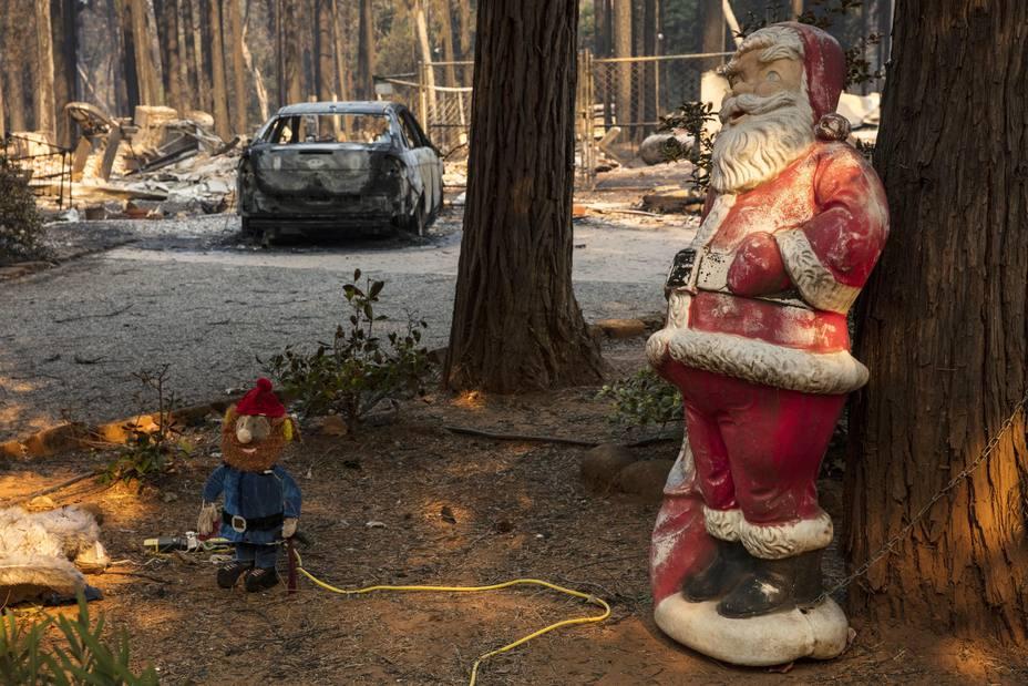 Imagen tras el incendio de California