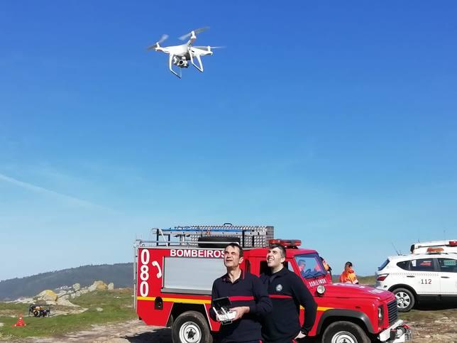 Uno de los drones de los Bomberos de Ferrol fue utilizado en las tareas de busqueda de la mujer desaparecida