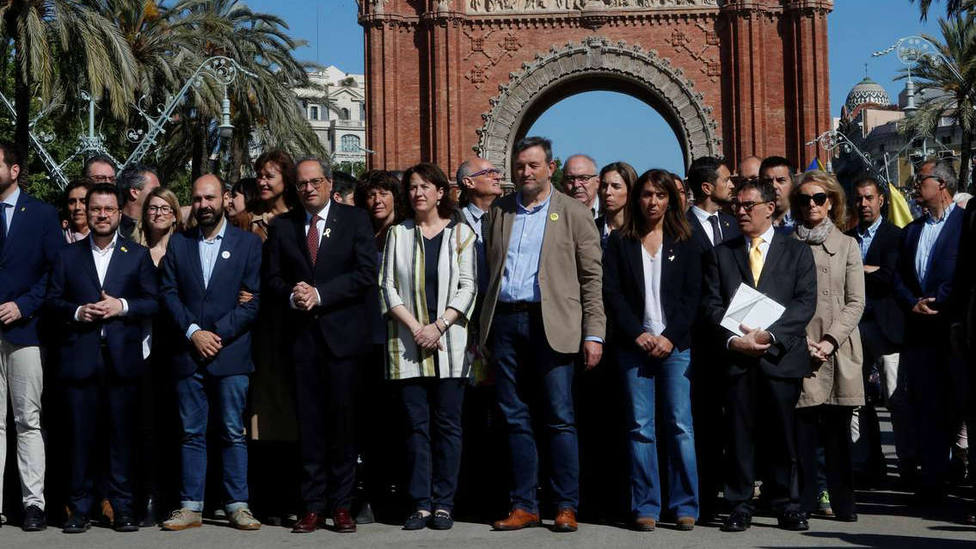 Quim Torra, declara ante el Tribunal Superior de Justicia de Cataluña (TSJC)