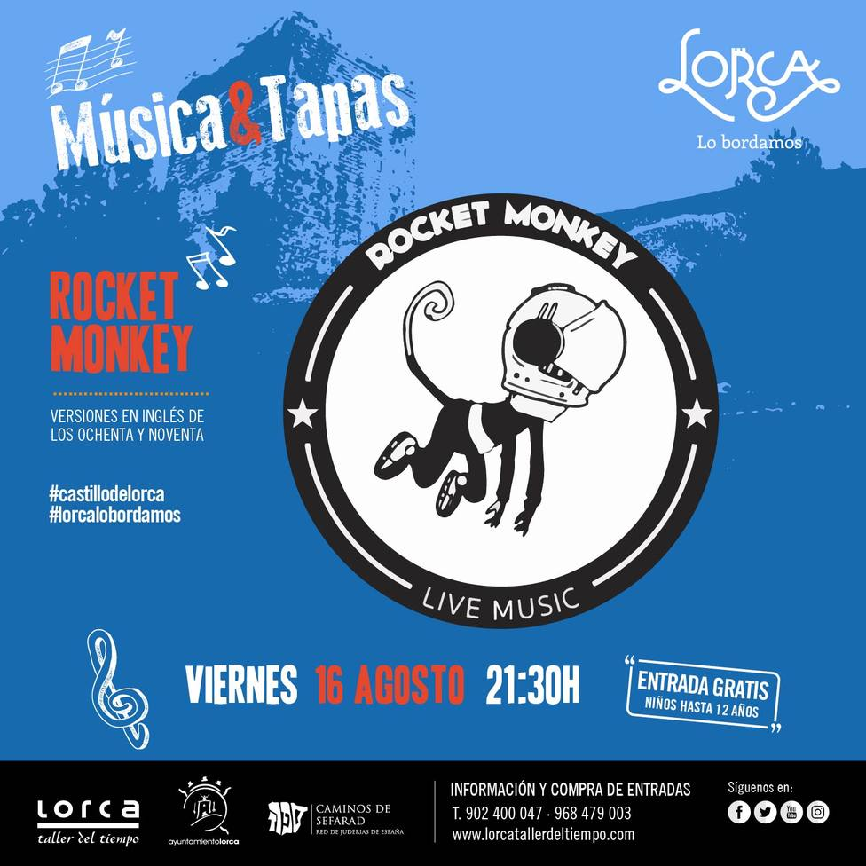 """La """"Rocket Monkey, Live Music Band"""" será la protagonista en las Noches del Castillo"""