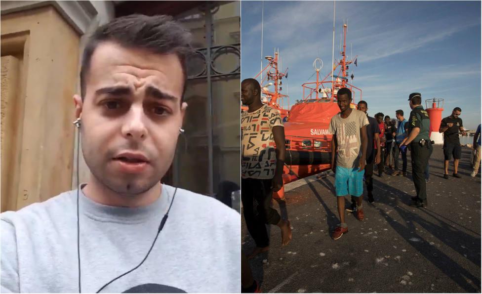 """El zasca de un tuitero a un militante de IU que califica de """"mito"""" que España sea un """"país de de acogida"""""""