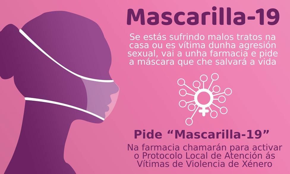 Cartel de la campaña Mascarilla-19, impulsada por el Concello de Ribadeo