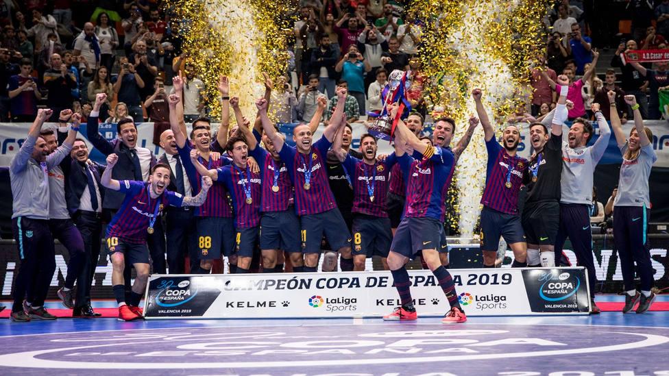 El Barça de fútbol sala ganó la LNFS de la temporada 2018-2019 (FOTO: FC Barcelona)