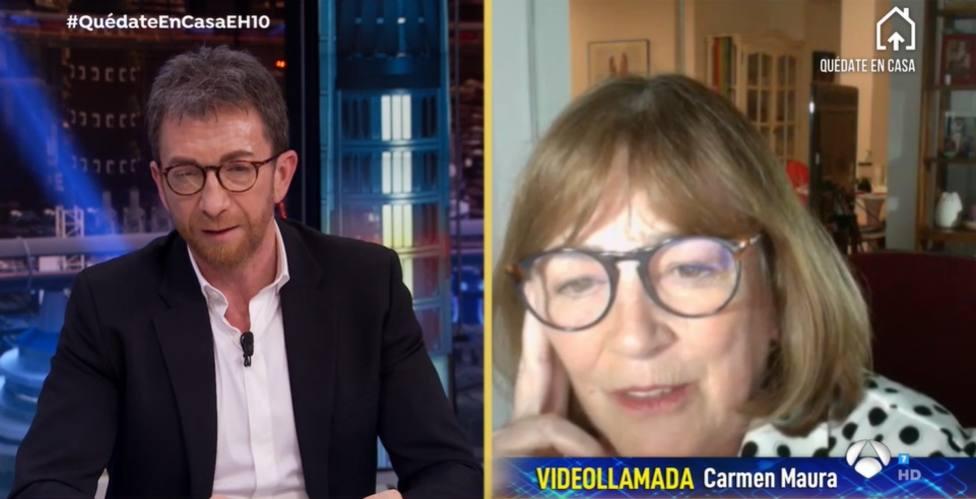 El desánimo de Carmen Maura en El Hormiguero: Los mayores seremos los últimos en salir