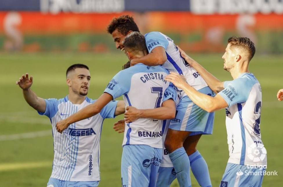 Celebración unánime tras el gol de Cristian. (Foto: MCF)