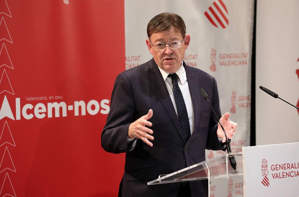 Puig ha presentado el proyecto de reconstrucción en Castellón de la Plana
