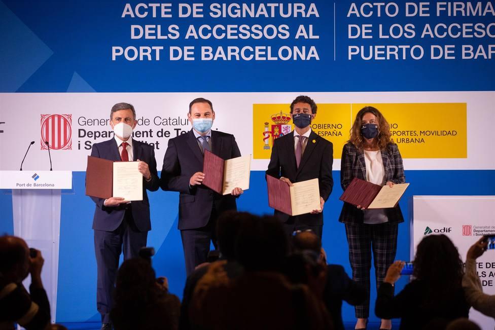 Gobierno, Generalitat y Puerto de Barcelona firman los nuevos accesos de la infraestructura