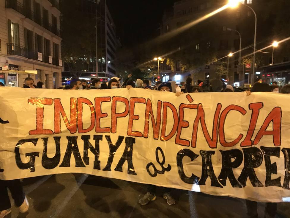 Los CDR vuelven a las calles tras cumplirse un año de la sentencia del procés