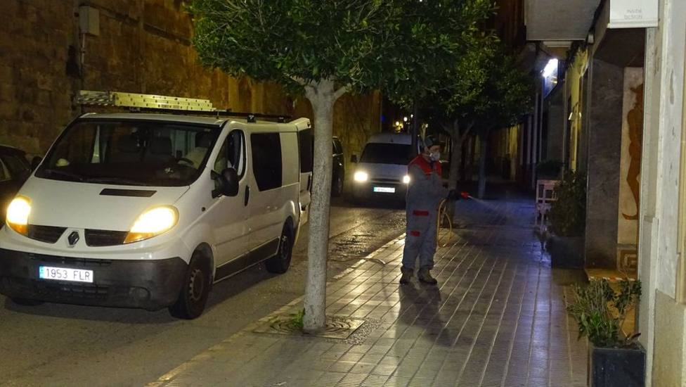 Desinfección calles de Felanitx