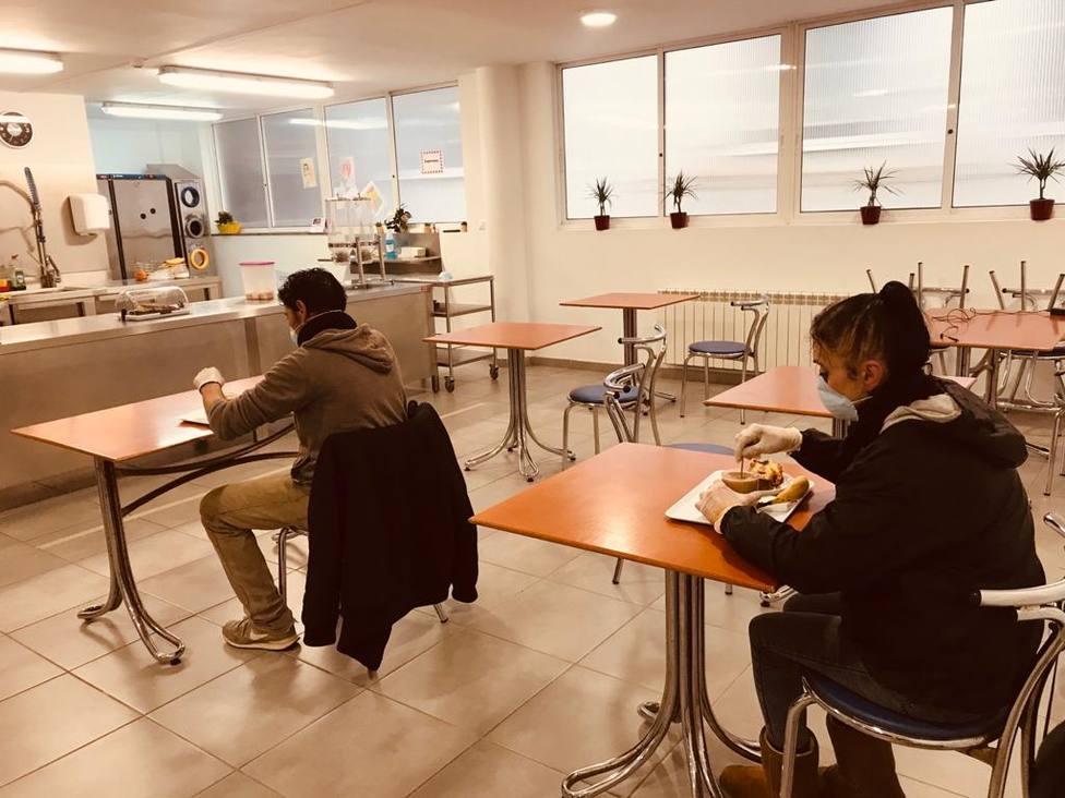 Comedor del Centro de Inclusión Social Gabriel Vázquez Seijas de Cáritas Ferrol