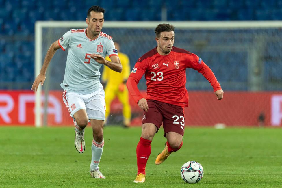 Sergio Busquets, en el partido de España ante Suiza (EFE)