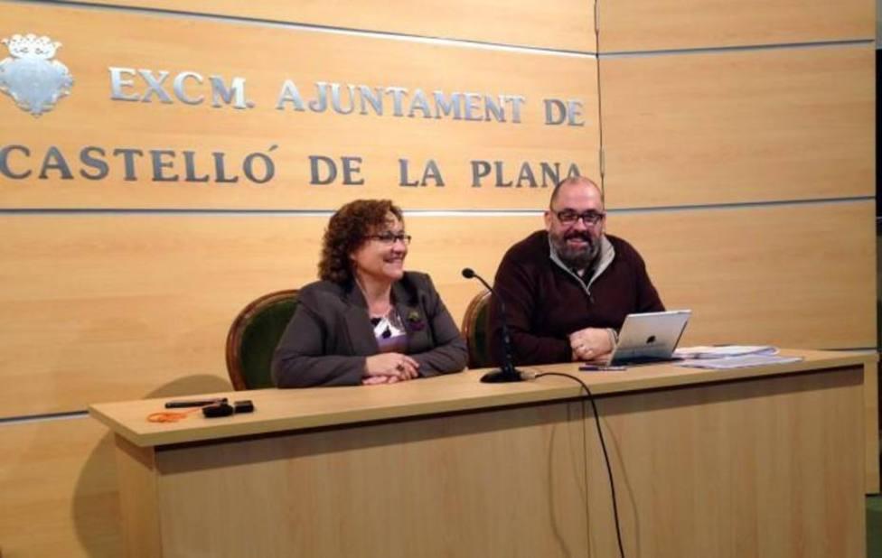 Enric Nomdedéu y Ali Brancal en su etapa en el ayuntamiento de Castellón de la Plana