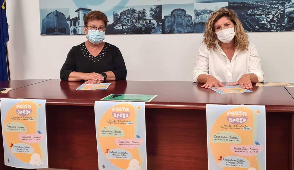 Marián Ferreiro y Mercedes Taibo. FOTO: concello de Narón