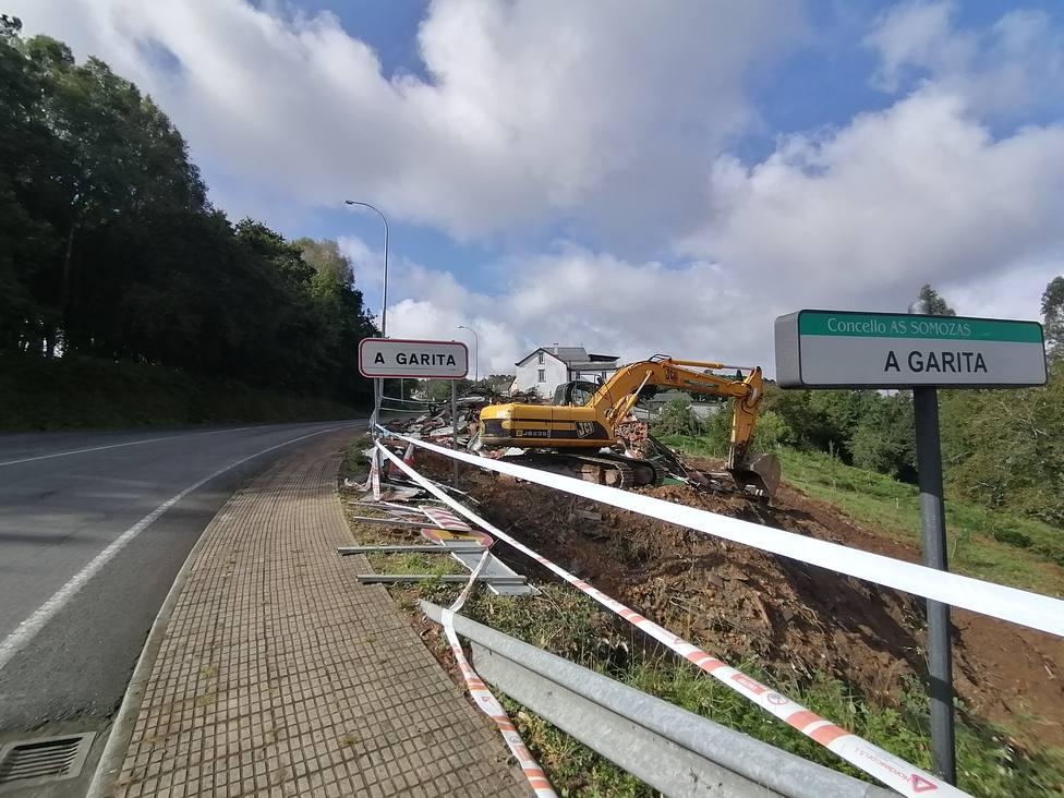 Los trabajos se han iniciado con la demolición de un inmueble