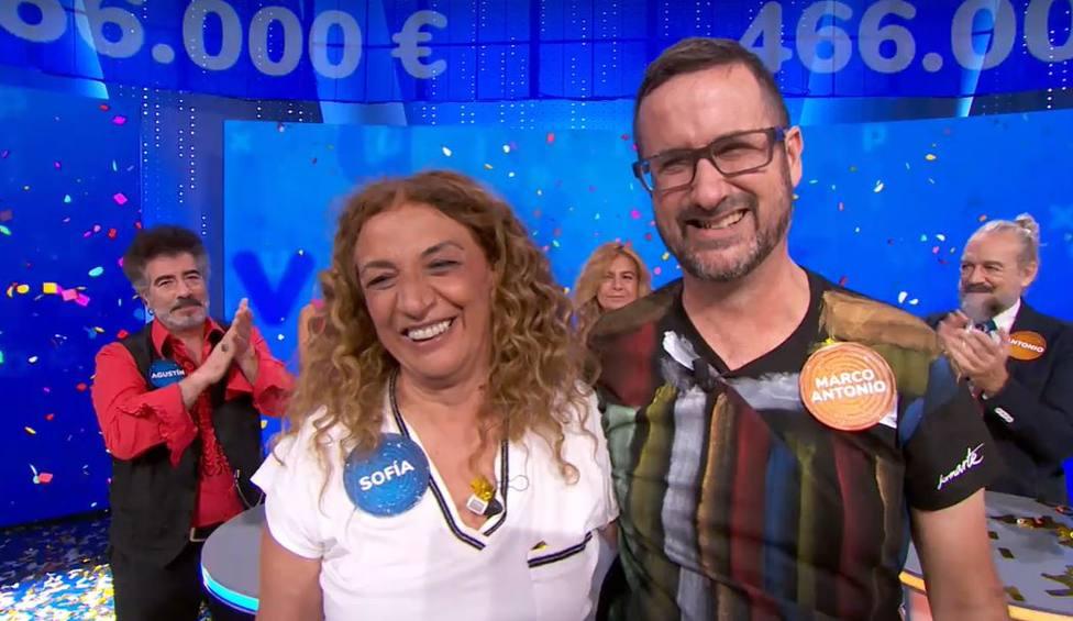 Sofía y Marco Antonio y Pasapalabra