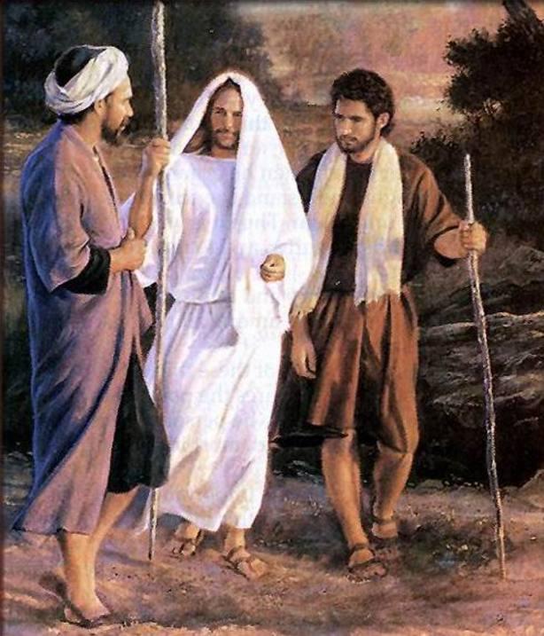 Cristo con los discípulos