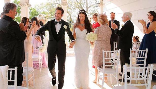 Imagen de la boda de Cesc Fàbregas con Daniella Semaan (@daniellasemaan)