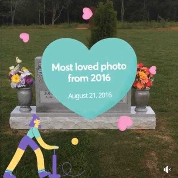 La foto de Facebook que ha recordado a un usuario la muerte de su madre con dibujos bailando sobre ella