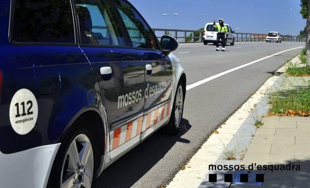 Un control de carretera de los Mossos dEsquadra