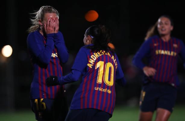El Barcelona femenino, clasificado para cuartos de final
