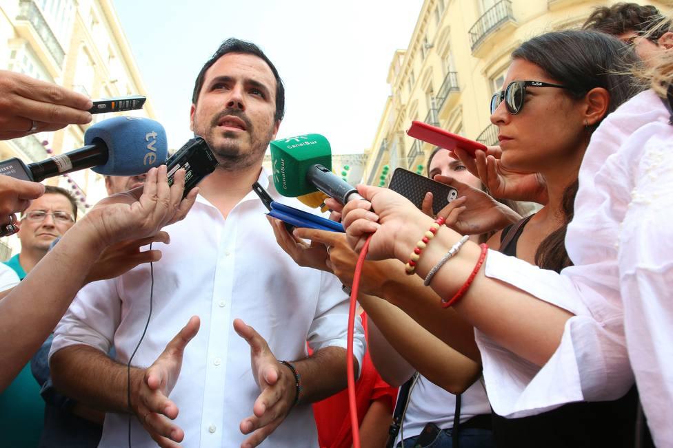 Garzón confía en que campaña sirva para reconectar con sus votantes y mantener los dos escaños en Málaga